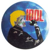 Billy Idol - 'Blue' Prismatic Button Badge